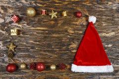Carte de Noël avec des jouets Photo stock