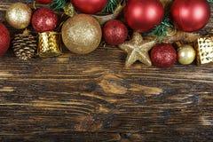 Carte de Noël avec des jouets Images stock