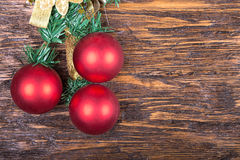 Carte de Noël avec des jouets Photographie stock libre de droits
