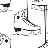 Carte de Noël avec emballer des patins Illustration tirée par la main de mode Oeuvre d'art créative d'encre Glace confortable S d illustration de vecteur