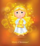 Carte de Noël avec l'ange illustration libre de droits