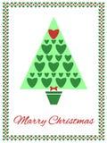 Carte de Noël avec l'arbre Photo stock