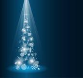 Carte de Noël avec l'arbre de sapin illustration de vecteur