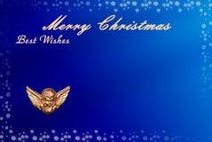 Carte de Noël avec l'espace pour des souhaits Images libres de droits