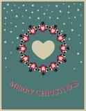 Carte de Noël avec l'oiseau illustration de vecteur