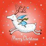 Carte de Noël avec la boîte à textes illustration libre de droits