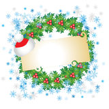 Carte de Noël avec la place pour   Photos stock