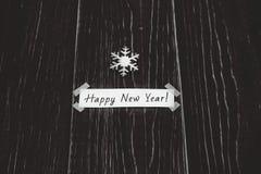 Carte de Noël avec la signature Photos stock