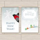 Carte de Noël avec le bouvreuil illustration stock