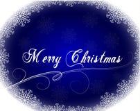Carte de Noël avec le cadre de flocons de neige Photos stock