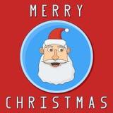 Carte de Noël avec le père noël illustration de vecteur