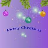 Carte de Noël avec le texte de salutation Photographie stock