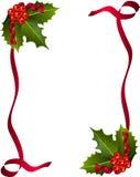 Carte de Noël avec les baies et le ruban rouge Image stock