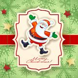 Carte de Noël avec Santa et texte drôles Photographie stock