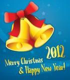 Carte de Noël bleue Images libres de droits