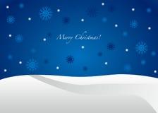 Carte de Noël bleue - joyeuse   Images stock