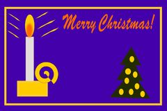Carte de Noël de bougie Photo libre de droits