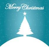 Carte de Noël - carte postale décorative de Joyeux Noël Photos stock