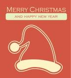 Carte de Noël - carte postale décorative de Joyeux Noël Photographie stock libre de droits