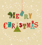 Carte de Noël colorée Photos libres de droits