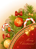 Carte de Noël de cru Images libres de droits