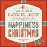 Carte de Noël de cru Photo libre de droits