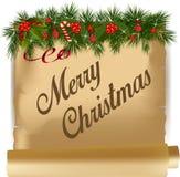 Carte de Noël de cru Photos libres de droits