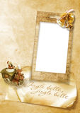 carte de Noël de cru avec des cloches Image libre de droits