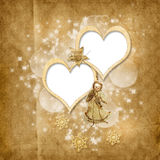 Carte de Noël de cru avec l'ange Image libre de droits