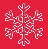 Carte de Noël de flocon de neige Image stock