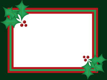 Carte de Noël de houx Images stock