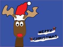 Carte de Noël de renne Photo stock