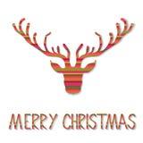 Carte de Noël de renne Image libre de droits