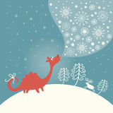 Carte de Noël de salutation Images libres de droits