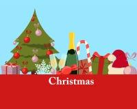 Carte de Noël de salutation Photos libres de droits