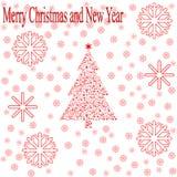 Carte de Noël de salutation Photographie stock libre de droits