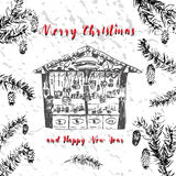 Carte de Noël de salutation Photos stock