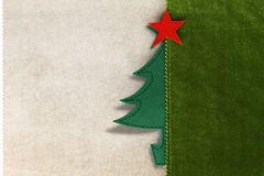 Carte de Noël de tissu Photo stock