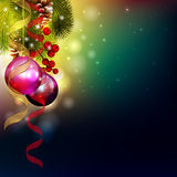 Carte de Noël de vecteur Photo stock