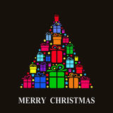 Carte de Noël de vecteur Photo libre de droits
