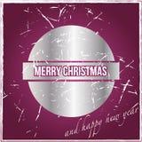 Carte de Noël de vintage Image libre de droits