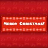 Carte de Noël de vintage avec le label Photos stock