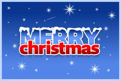 Carte de Noël et d'an neuf Photos stock