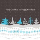 Carte de Noël et d'an neuf Images libres de droits
