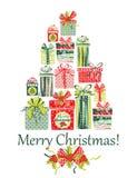 Carte de Noël et d'an neuf Photo stock