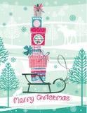 Carte de Noël et d'an neuf Images stock