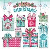 Carte de Noël et d'an neuf Photographie stock libre de droits