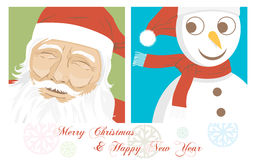 Carte de Noël et d'an neuf, drapeau Photographie stock libre de droits
