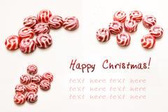 Carte de Noël heureux Photographie stock