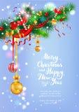 Carte de Noël heureux de Frost illustration stock